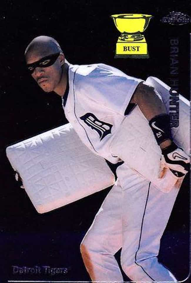 Brian Hunter is listed (or ranked) 4 on the list 17 of the Funniest Baseball Cards Ever Printed