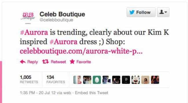 CelebBoutique Apparently... is listed (or ranked) 4 on the list 22 Inappropriate Tweets That Totally Backfired