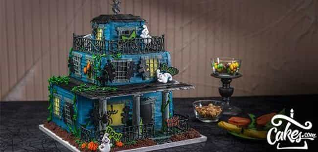 """Haunted House Cake is listed (or ranked) 3 on the list The Coolest """"How Did They Do That?"""" Cakes"""