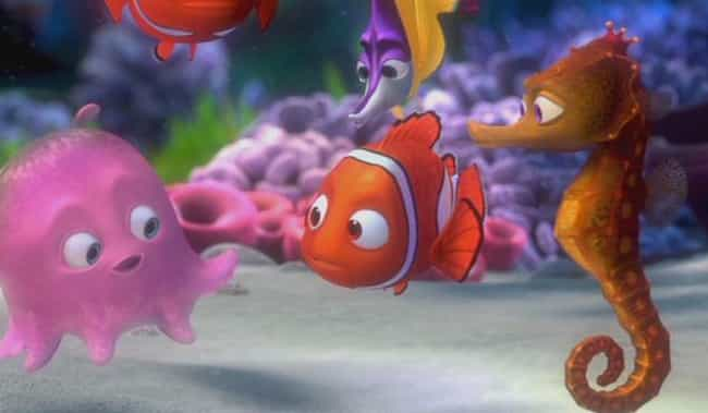 Finding Nemo - 'One Tent... is listed (or ranked) 1 on the list Off-Color Jokes For Grown-Ups That Kids Never Noticed In Pixar Movies