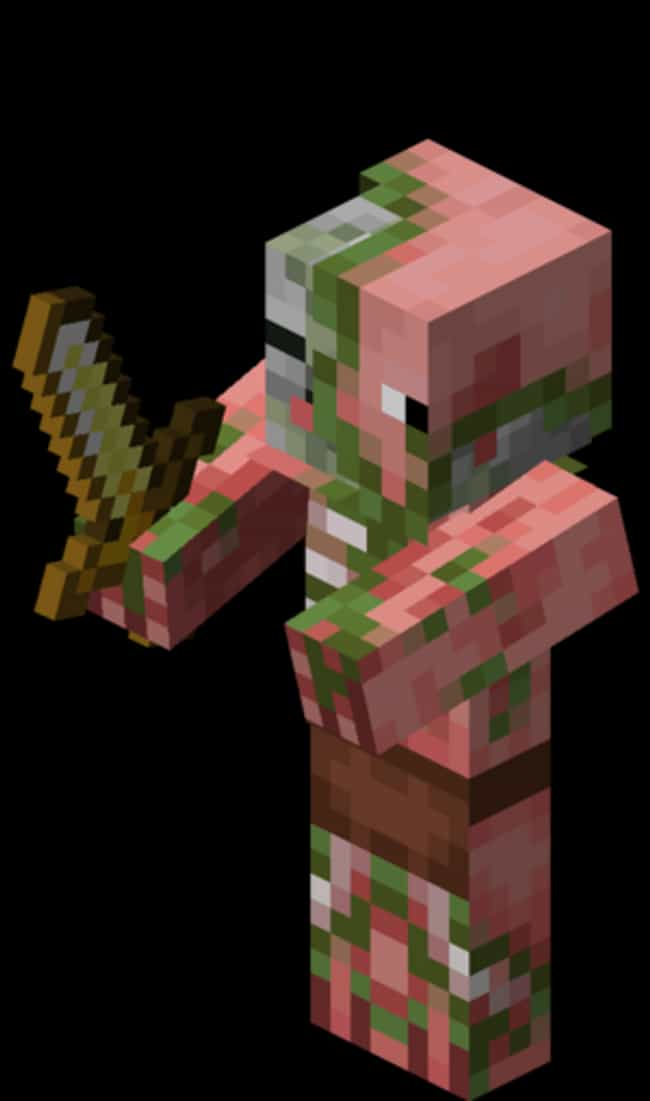 Realistic Zombie Pigman ... is listed (or ranked) 3 on the list The Creepiest Things in Minecraft