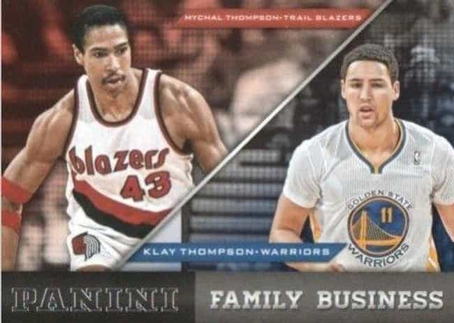 Klay and Mychal Thompson is listed (or ranked) 1 on the list Professional Athlete Father and Son Dynasties