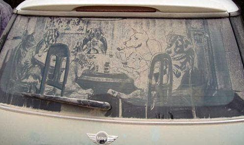 Random Funniest Things Ever Drawn on Dirty Cars