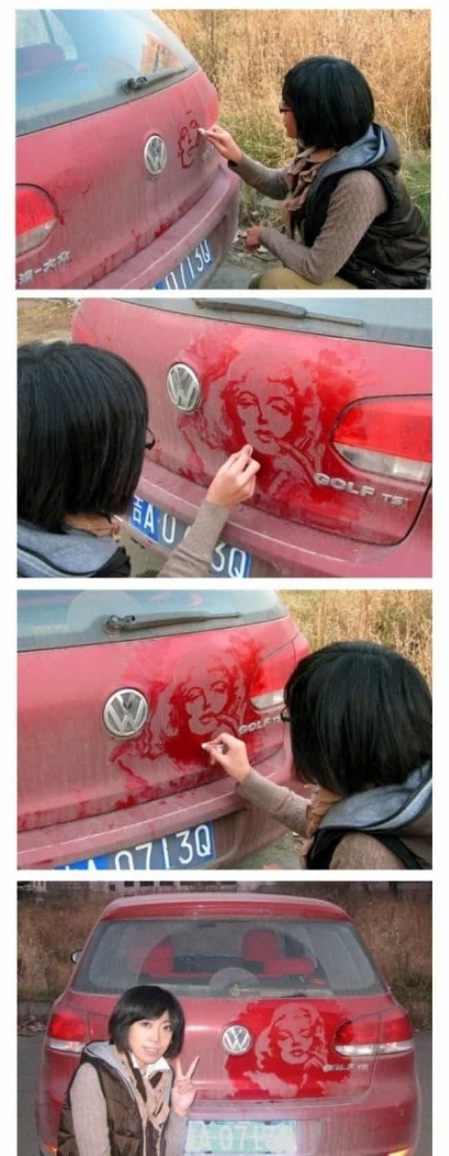 Ashes to Ashes, Dust to.... is listed (or ranked) 8 on the list The Funniest Things Ever Drawn on Dirty Cars
