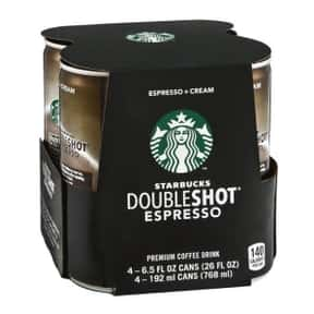 Starbucks Doubleshot Espresso  is listed (or ranked) 19 on the list The Best Starbucks Bottled Drink Flavors