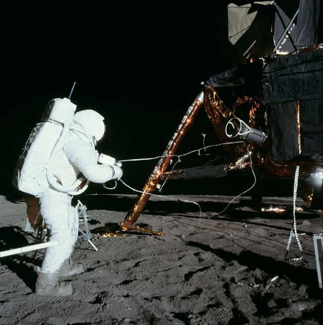 A Conspiracy Theorist Thinks Alan Bean Saw Glass Domes On The Moon