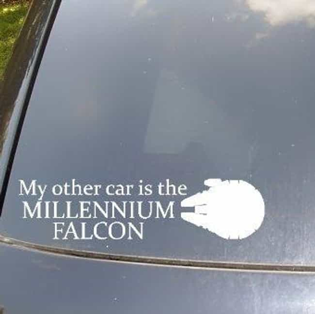 "Going Han Solo is listed (or ranked) 1 on the list Hilarious ""My Other Car Is a ___"" Bumper Stickers"