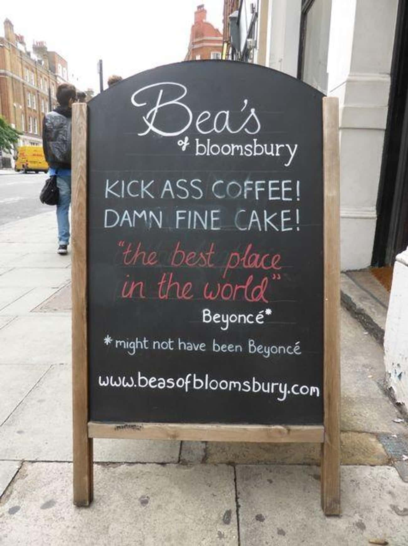 Damn Fine! is listed (or ranked) 4 on the list The Funniest A-Signs from Outside Coffee Shops