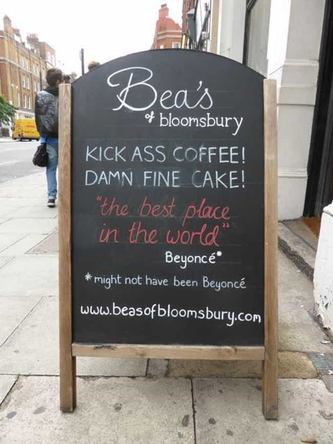 Damn Fine! is listed (or ranked) 3 on the list The Funniest A-Signs from Outside Coffee Shops