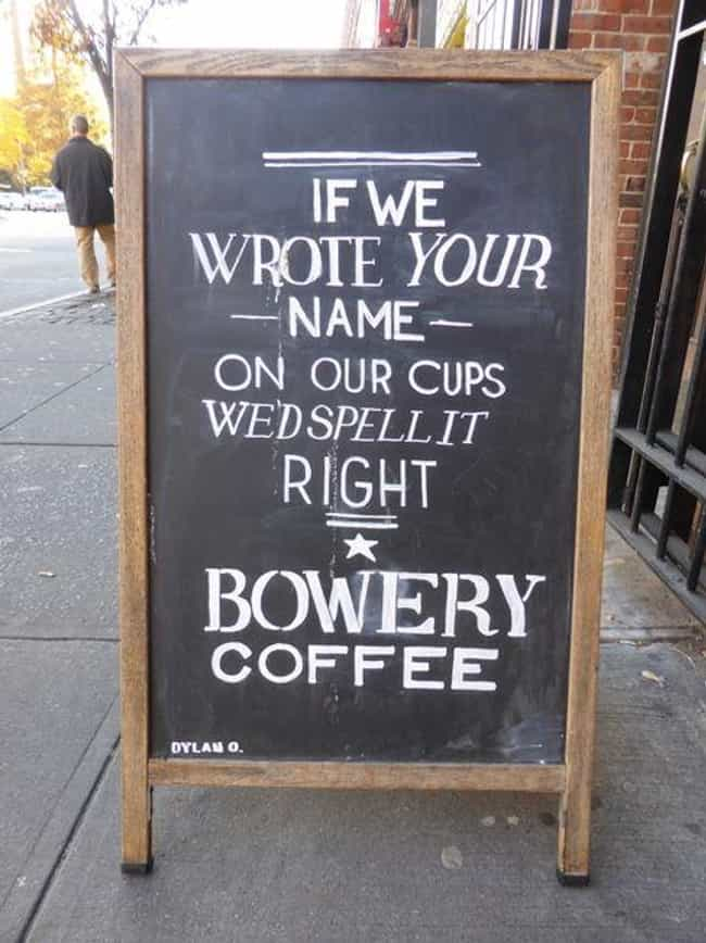 The Funniest A-Signs from Outside Coffee Shops