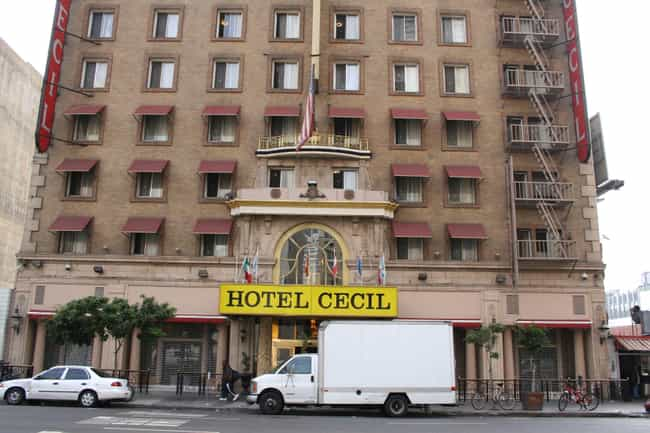 The Cecil Hotel is listed (or ranked) 1 on the list 17 Hollywood Ghost Stories and Urban Legends