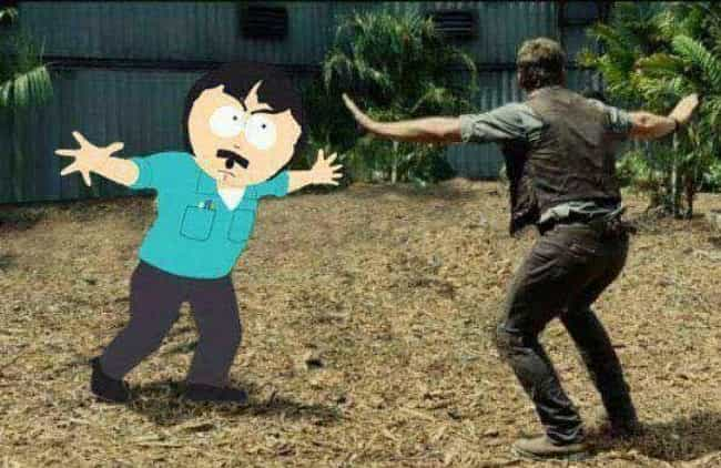 Jurassic South Park is listed (or ranked) 1 on the list 20 Famous Movie Scenes Improved with Photoshop