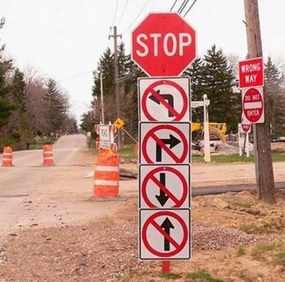 Major Turning Point is listed (or ranked) 1 on the list The 20 Most Confusing Road Signs Ever