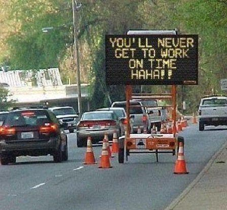 Random Funniest Electronic Signs on the Open Road