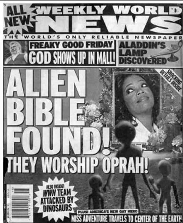 Finally a Believable Tabloid Headline