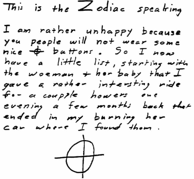 The Zodiac Killed Couples Beca... is listed (or ranked) 2 on the list Terrifying Theories About the Zodiac Killer