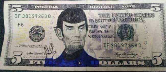 Mama Said Spock You Out is listed (or ranked) 1 on the list The Funniest Things Ever Written on Money