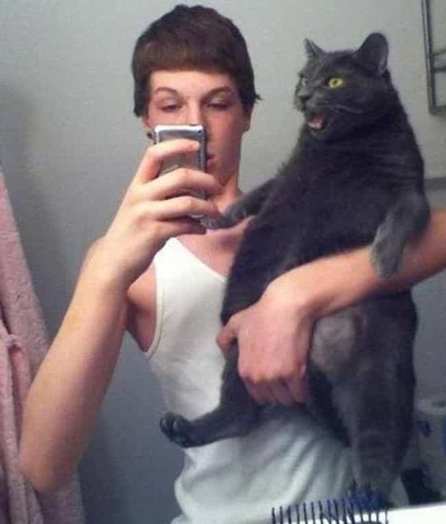 A Moment of Paws is listed (or ranked) 4 on the list The 24 Funniest Moments in Selfie History