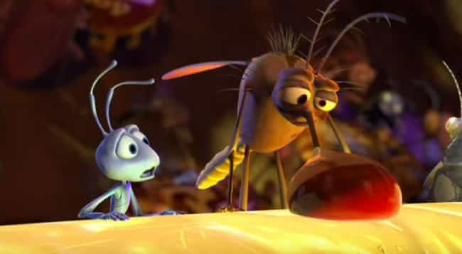 The Drunk Mosquito is listed (or ranked) 2 on the list Adult Moments You Never Noticed in A Bug's Life