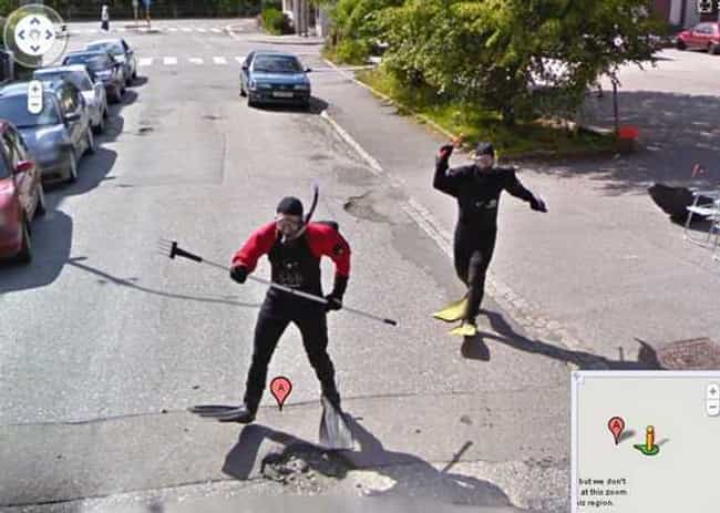 Scuba Street Hockey is listed (or ranked) 4 on the list The Funniest Moments in Google Maps History