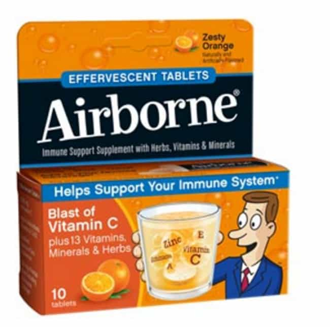 Airborne is listed (or ranked) 3 on the list 12 Common Placebo Products That Don't Actually Do Anything