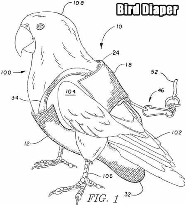 For the Birds is listed (or ranked) 4 on the list The 19 Weirdest Patents Ever Filed