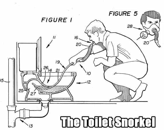 Flushing Things Out is listed (or ranked) 3 on the list The 19 Weirdest Patents Ever Filed