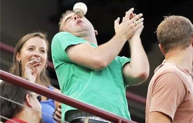 Foul Play is listed (or ranked) 4 on the list The 25 Funniest MLB Fan Photos Ever