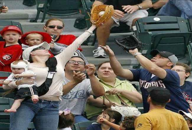 Mom of the Year is listed (or ranked) 2 on the list The 25 Funniest MLB Fan Photos Ever