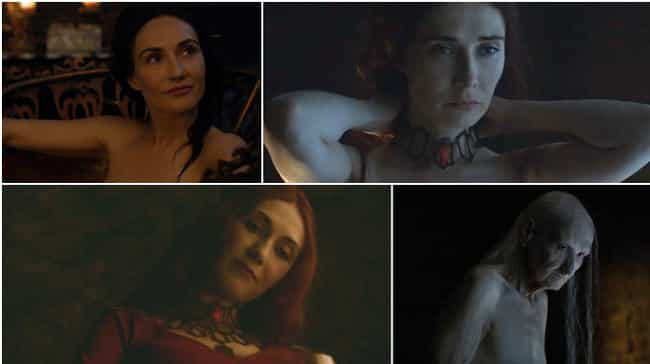 Melisandre's Necklace Glamor is listed (or ranked) 4 on the list The Most Improbable Plot Points in Game of Thrones