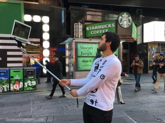 Next Stop... Starbucks is listed (or ranked) 1 on the list Selfie Stick Photos That Will Ruin Your Whole Day