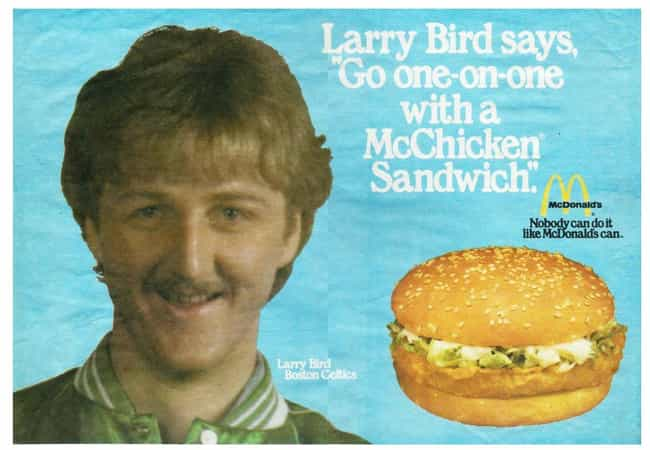 Bird on Chicken is listed (or ranked) 1 on the list Amazing Retro Pro Athlete Advertisements