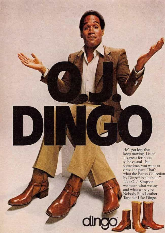 OJ's Mysterious Third Leg is listed (or ranked) 2 on the list Amazing Retro Pro Athlete Advertisements