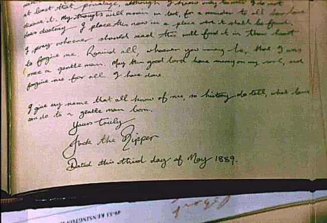 Jack the Ripper's Diary Was Fo... is listed (or ranked) 4 on the list Theories About Jack the Ripper That Will Freak You Out