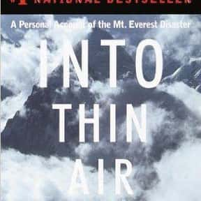 Into Thin Air is listed (or ranked) 13 on the list 102 Books Recommended By Stephen King