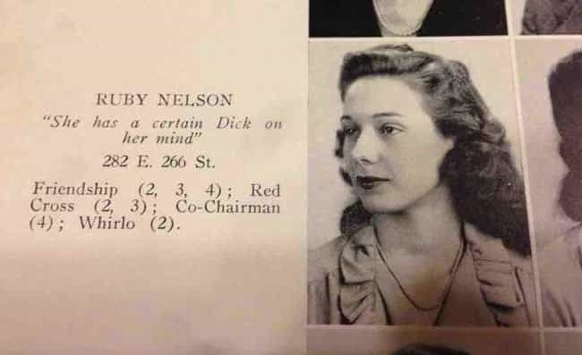 She Wants the 'D' is listed (or ranked) 2 on the list 16 Amazing Vintage Yearbook Quotes That Prove Wit Is Timeless