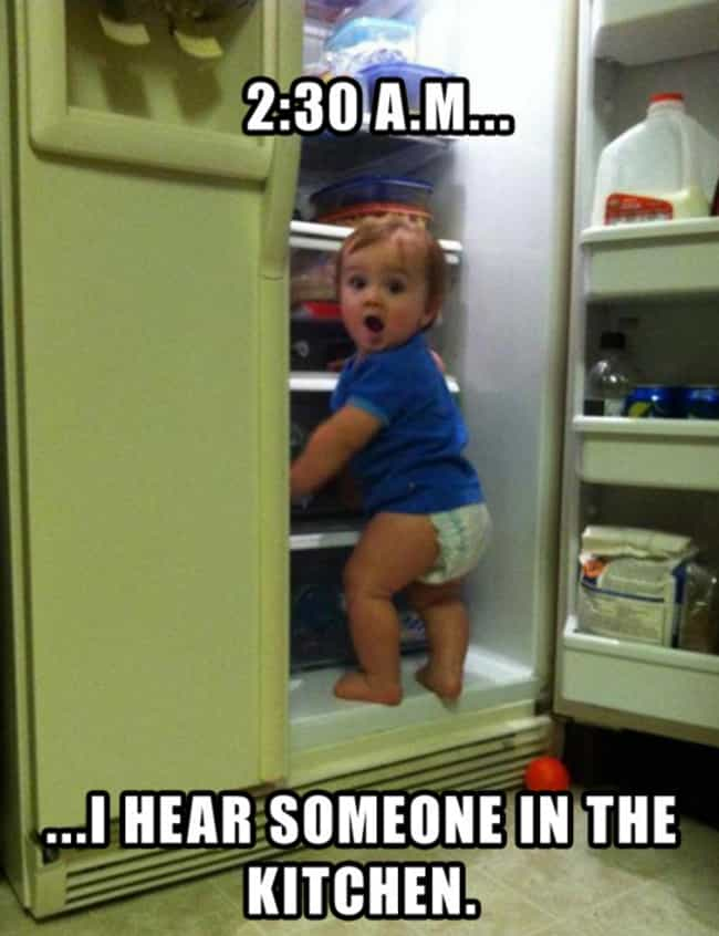 """Baby Got Snacks is listed (or ranked) 2 on the list The Funniest """"Caught in the Act"""" Photos Ever"""