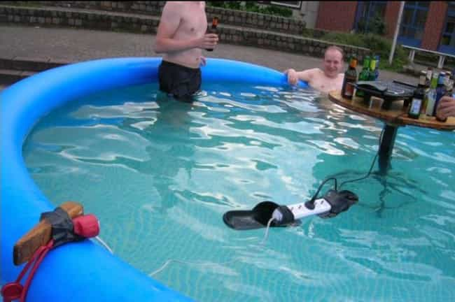 Swimming with the Shocks is listed (or ranked) 2 on the list Future Darwin Award Winners Caught on Camera