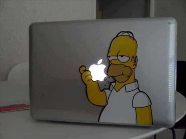 Mmmmmmmmm Apples is listed (or ranked) 2 on the list Hilarious Laptop Stickers You'll Want on Your Own Computer