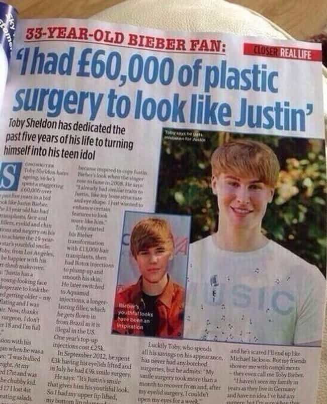 Paper Of Plastic? is listed (or ranked) 4 on the list Photos That Prove Justin Bieber Fans Are Insane