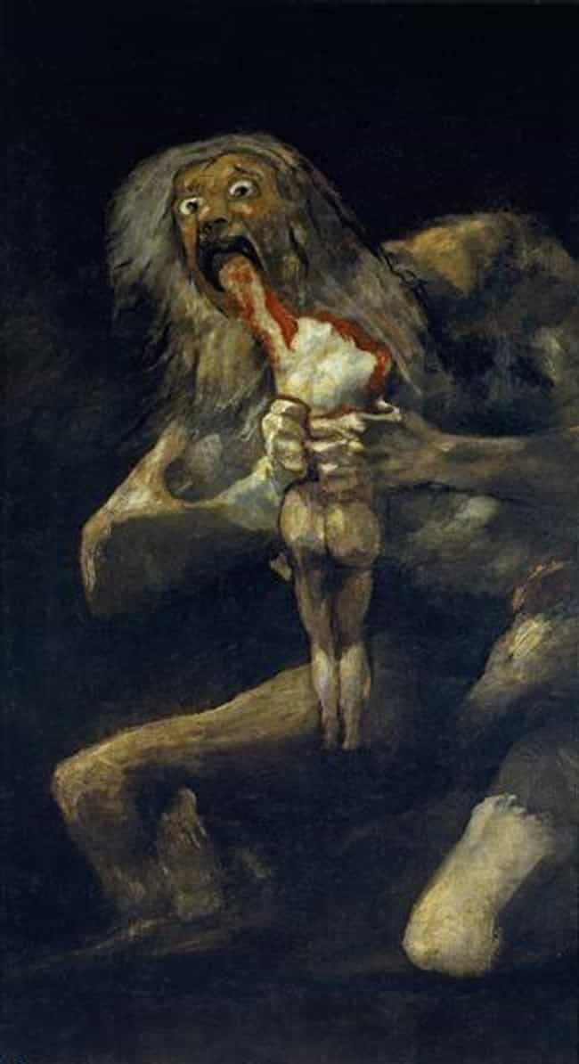 Francisco Goya, 'Saturn De... is listed (or ranked) 1 on the list The Most Metal Paintings of All Time