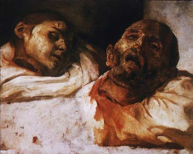 Théodor Géricault, 'Heads ... is listed (or ranked) 4 on the list The Most Metal Paintings of All Time