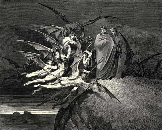 Gustave Dore, 'The Infer... is listed (or ranked) 4 on the list The Most Metal Paintings of All Time