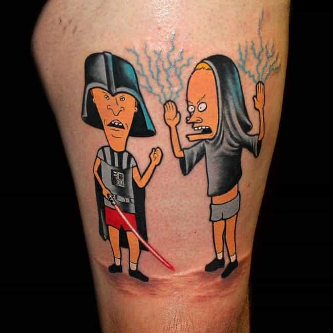 The True Power of the Dark Sid... is listed (or ranked) 2 on the list 23 Incredible Tattoos Inspired by Beavis and Butt-Head