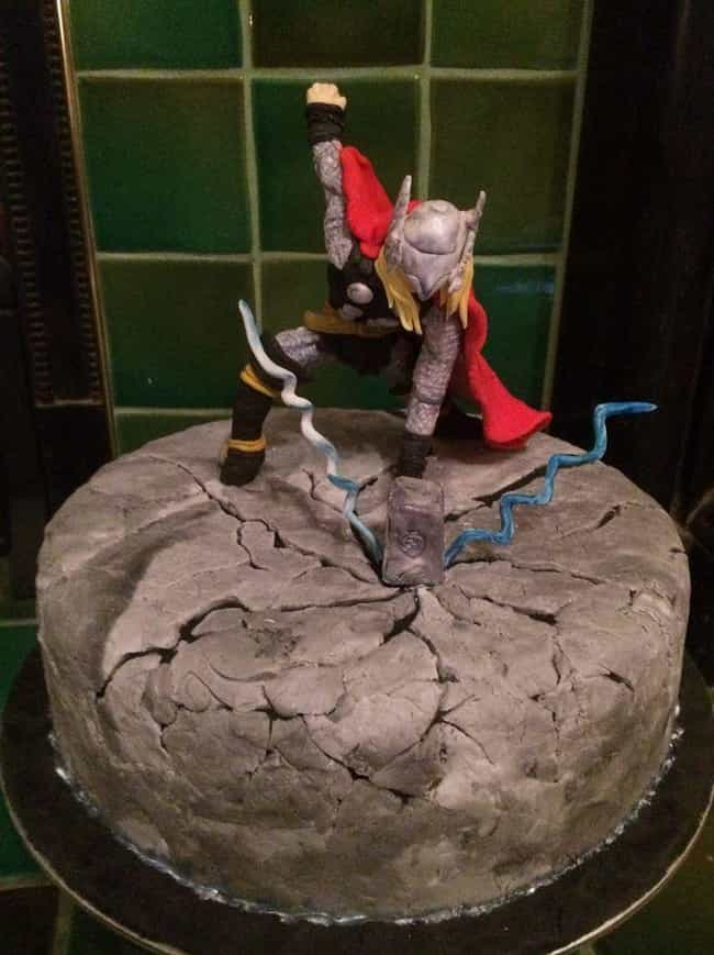 Hammer Time is listed (or ranked) 2 on the list The Most Amazing Cakes Inspired by Comic Books