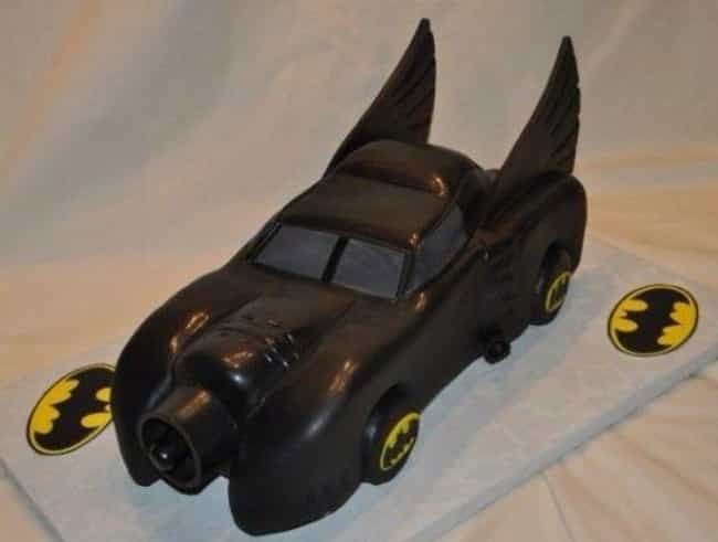 Batmobile Cake is listed (or ranked) 4 on the list The Most Amazing Cakes Inspired by Comic Books