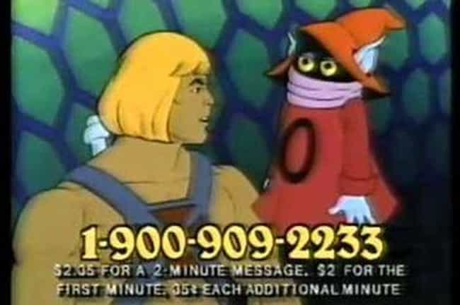 He-Man Hotline is listed (or ranked) 3 on the list 1-900 Hotlines You Never Knew You Needed