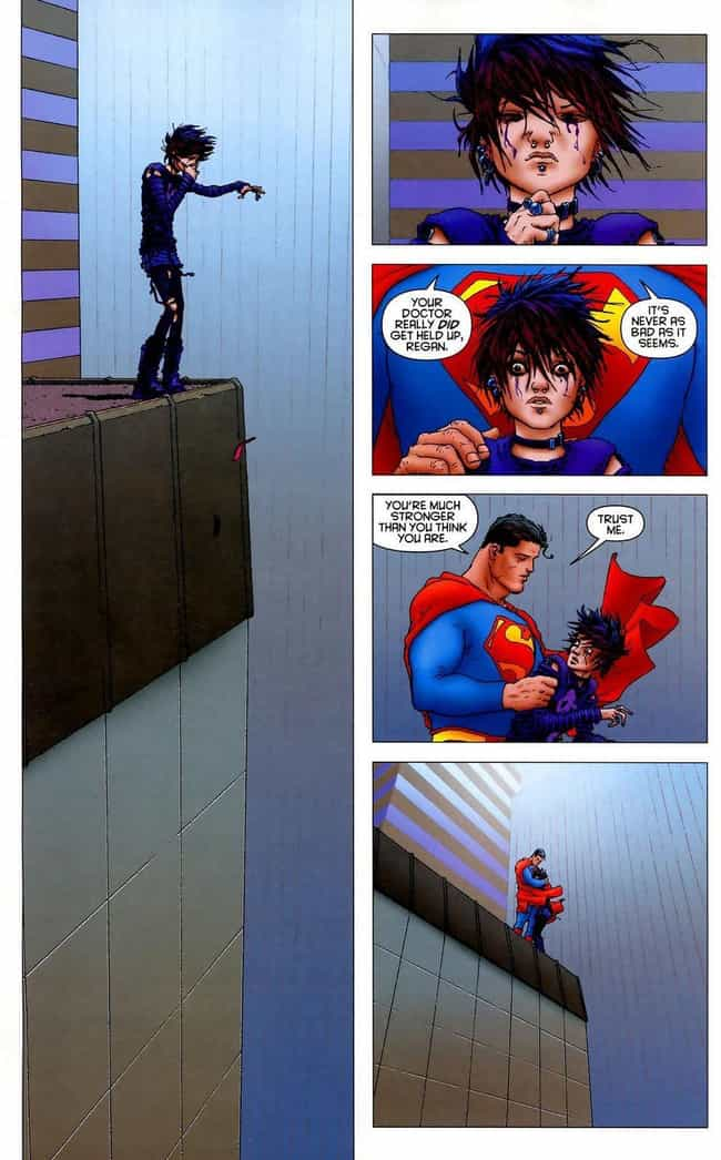 Superman's Words to a Suicidal... is listed (or ranked) 1 on the list The Most Emotional Moments in Comics