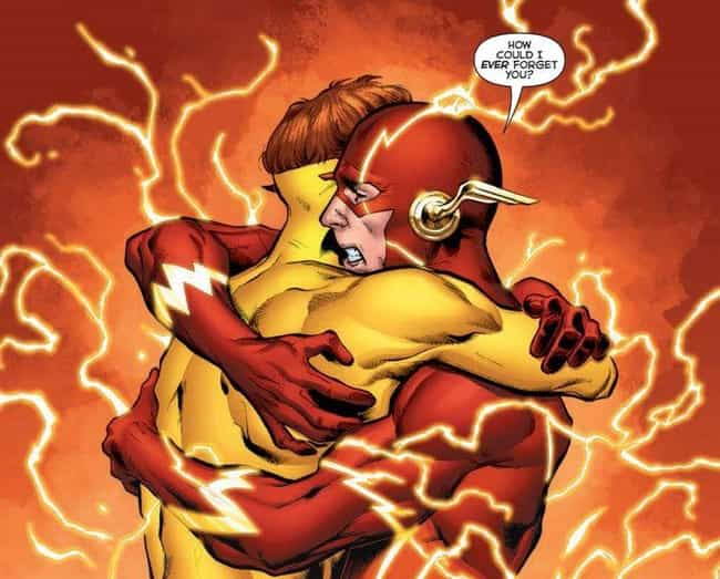 Barry Allen Remembers Wally We... is listed (or ranked) 2 on the list The Most Emotional Moments in Comics