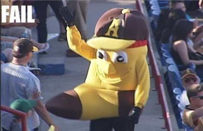 Banana Mascot Problems is listed (or ranked) 2 on the list The Funniest Mascot Photos in Sports History